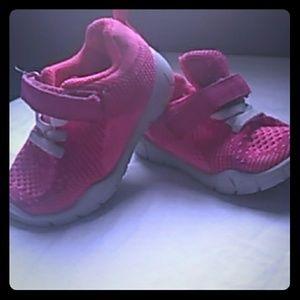 Girls pink sneakers